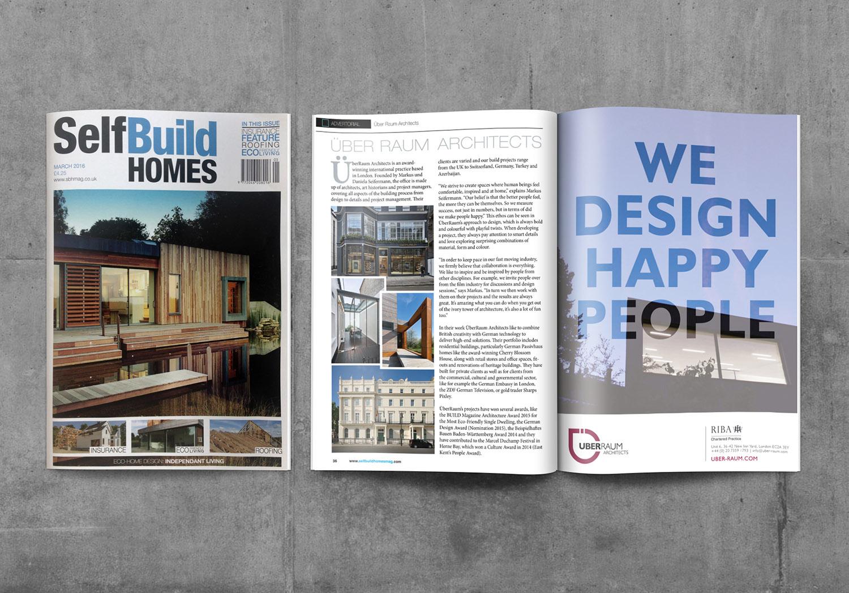 Überraum feature in self build homes magazine Überraum architects