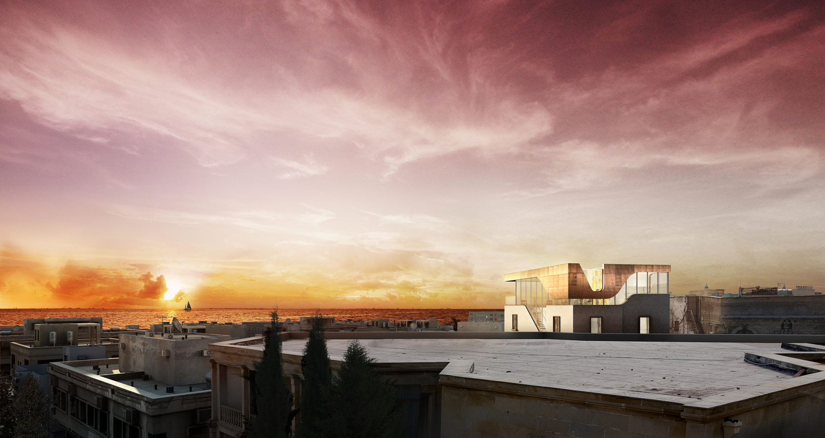 Rooftop-pavilion